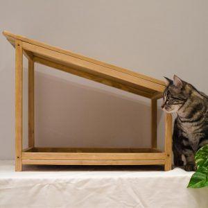 cama madera gatos