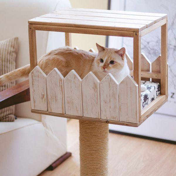 parques madera para gatos
